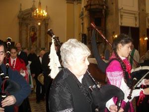 El sonido de las gaitas gallegas acompañó la ceremonia.