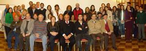 La mayoría de los socios que asistió a la elección de los miembros del directorio del Centro Cultural Andaluz de Chile.