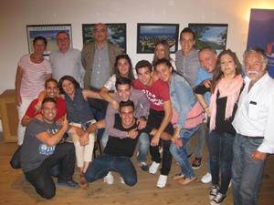 El grupo de jóvenes canarios que realizó su estancia formativa en Berlín, en el acto de despedida de la Asociación.