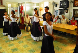 El grupo de baile del Club, 'Aires de Salamanca'.