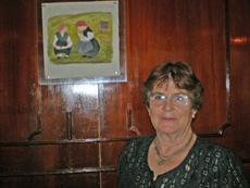Miguens es una artista plástica gallega que emigró a Buenos Aires a los 17 años.