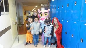 Los pequeños disfrutaron junto a sus personajes favoritos, como La Pantera Rosa.