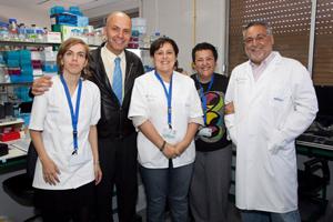 Equipo de investigadores liderado por el doctor Antonio Cabrera que realiza este estudio.