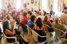 La parte artística de la actividad estuvo a cargo de las cantantes Caridad Rivero, Victoria Torrado y Loreto Suárez.