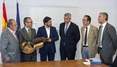 Francisco Lores, Xesús Vázquez Abad, Antonio Rodríguez Miranda, Alejandro López Dobarro, Anxo Lorenzo y Valentin Garcia.