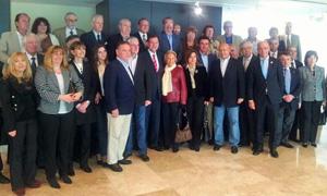 El presidente Rajoy con los directivos, afiliados y simpatizantes del PP en Argentina.