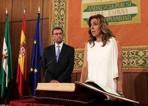 Susana Díaz jura el cargo de presidenta de la Junta de Andalucía.