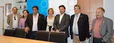 La directora de la Agencia de Turismo de Galicia, Nava Castro, y el secretario xeral da Emigración, Antonio Rodríguez Miranda, se reunieron con representantes de la Câmara Municipal (Parlamento autonómico) de Río de Janeiro.
