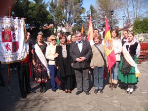La comitiva del Centro de Castilla y León en los actos por el Día del Inmigrante.