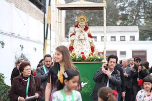 La Virgen del Rocío recorrió las instalaciones del Centro Español del Perú.