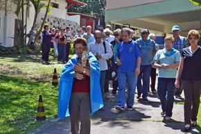 La procesión de la 'La Santina'.