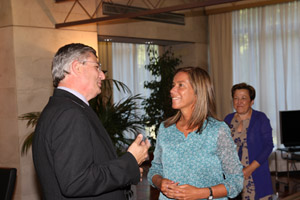 La ministra de Sanidad, Servicios Sociales e Igualdad, Ana Mato, durante la reunión que ha mantenido con el comisario europeo de Salud, Tonio Borg.