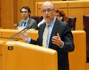 Intervención de Cristóbal Montoro en el Senado.