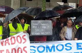 Algunos de los manifestantes.