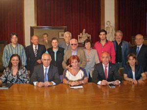 Miras Portugal con los miembros del Consejo de Residentes Españoles (CRE) en Buenos Aires.