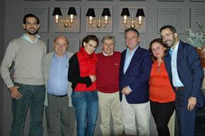 Alfredo Prada, tercero por la derecha, con los miembros del Comité Ejecutivo del PP de España en el Reino Unido.