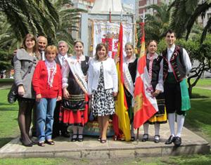 Delegación del Centro de Castilla y León en las ofrendas florales.