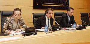 Imagen de la intervención del consejero de la Presidencia, José Antonio de Santiago-Juárez, en su comparecencia en Comisión de Hacienda de las Cortes de Castilla y León para explicar los presupuestos de la Consejería para 2014.