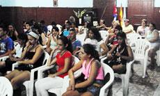 Los jóvenes que participaron en la actividad.