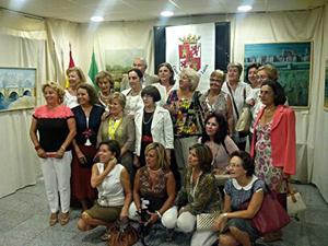 Exposición de pintura de las artistas de la asociación Pinceladas.
