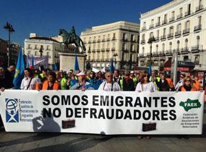 Manifestación por las calles de Madrid.