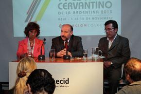 Cerone, Inza y Filipetti destacaron la importancia que el Festival Cervantino tiene para la ciudad de Azul.