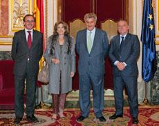 Alfonso Alonso, Mª del Carmen de la Cal, Jesús Posada y Alfredo Prada.