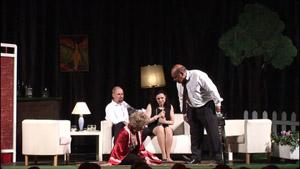 El grupo Ramos Carrión en un momento de la representación.