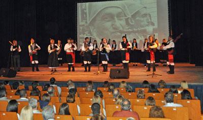 La banda 'Irmandade' en el escenario.