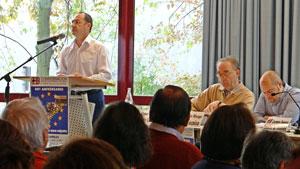 Intervención del presidente de la Confederación, Antonio Beltrán.