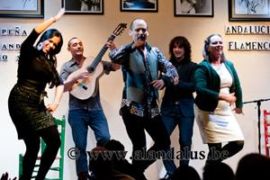 Actuación en la sede de la Peña Andaluza de Amberes.