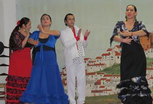 Un momento de la actuación del grupo Estampa Flamenca.