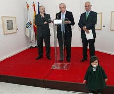 Ramón Villares, José Ramón Ónega, Miras Portugal y la bisnieta de Alberto Martí.
