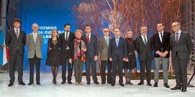El presidente Núñez Feijóo con los premiados.