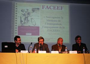 Gabriel Gasó, Juan Manuel Bonet, Antonio Aliaga y Jean Barthelemi Debost durante la presentación de la web.