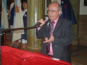 Carlos La Blunda, interventor del Centro Gallego de Buenos Aires en representación del Inaes.