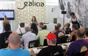 El área expositiva de Galicia.