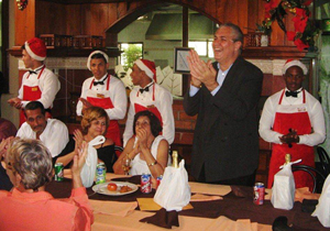 El presidente de la Colonia Leonesa felicitó a los emigrantes durante el almuerzo.