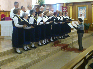 Actuación del Coro de la entidad en Alcobendas.