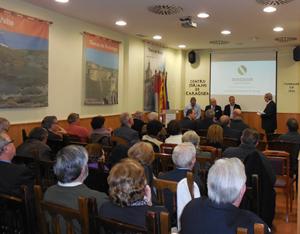 Una imagen del acto celebrado en el Centro Soriano de Zaragoza sobre este proyecto minero.