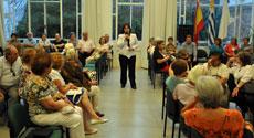 La presidenta del Patronato, Ana Lorenzo, habló a los asistentes.