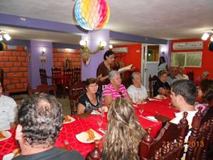 Palabras de bienvenida a cargo de la secretaria social, Mª Aurora Pérez Guardamino.
