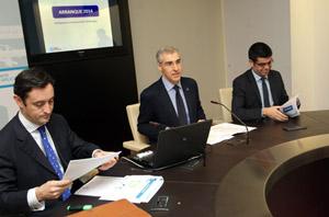 Javier Aguilera, Francisco Conde y Manuel Varela Rey.