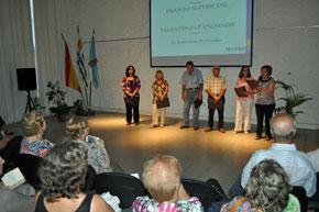Un momento del acto celebrado en el Patronato da Cultura Galega de Montevideo.