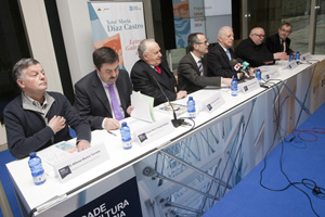 El conselleiro de Cultura e Educación presentó en el Gaiás la programación de la Xunta para las Letras Galegas 2014.
