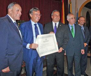 Cándido Padrón, el embajador Pérez-Hernández y Torra, Javier Medina, Miras Portugal y Juan Santana.