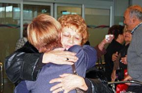 Imagen de la llegada de los participantes en 'Reencontros na Casa 2013'.