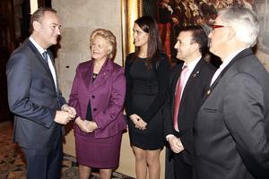 Fabra, con los representantes de la FECA.