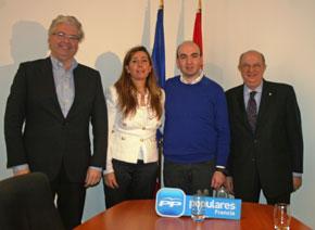 Jordi Cornet, Alicia Sánchez-Camacho, José Manuel Taboada y Santiago Fisas.