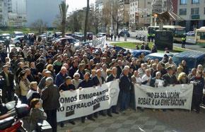 Manifestación celebrada en Cádiz.